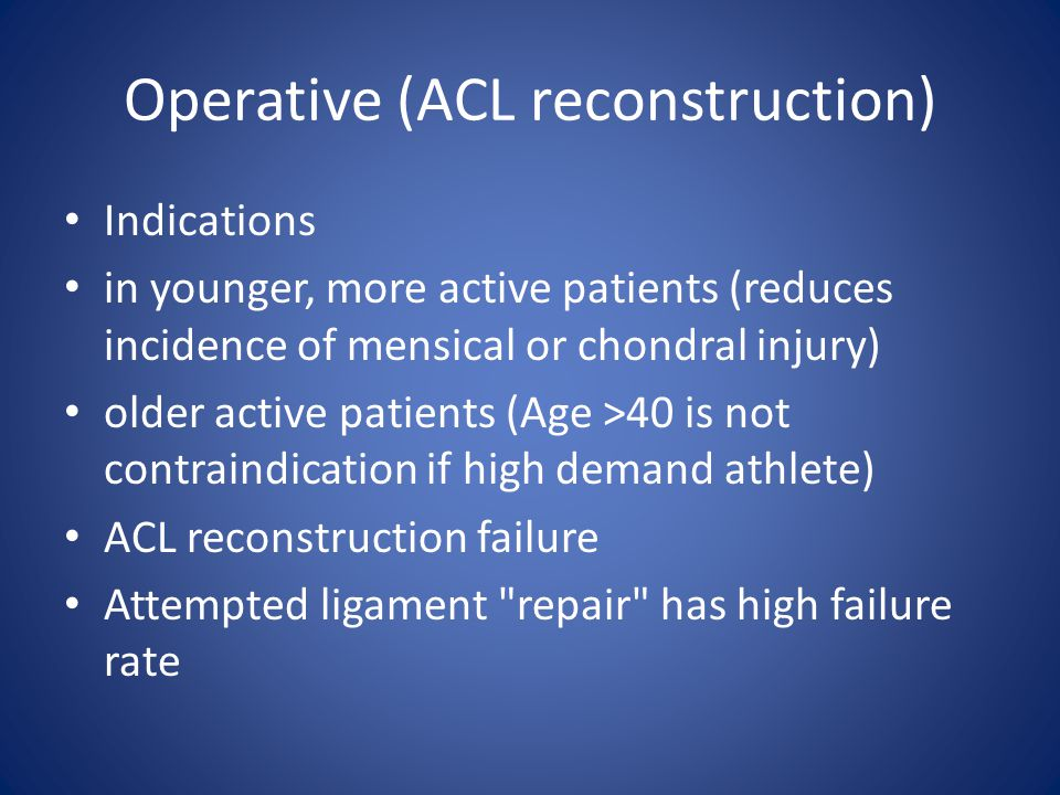 Operative (ACL reconstruction)