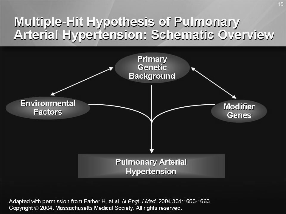 Only a small percentage of carriers of bone morphogenetic protein receptor type 2 (BMPR2) mutations develop pulmonary arterial hypertension (PAH)