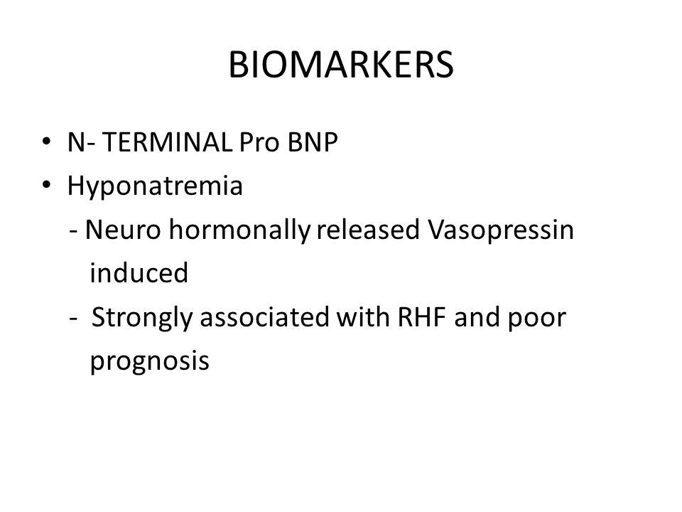 BIOMARKERS N- TERMINAL Pro BNP Hyponatremia