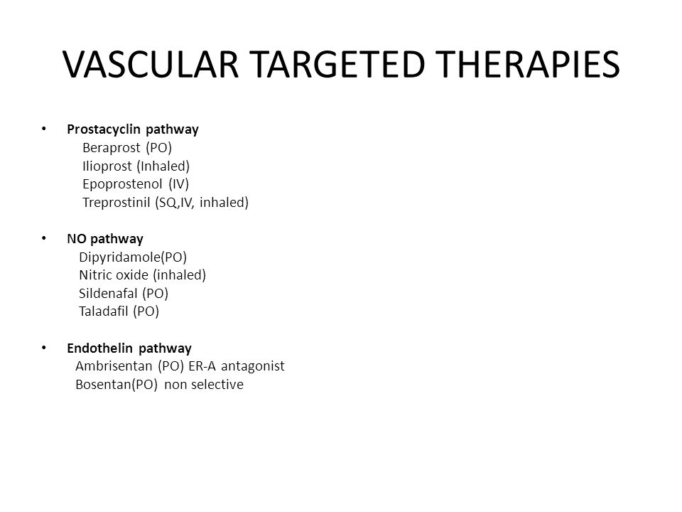 VASCULAR TARGETED THERAPIES