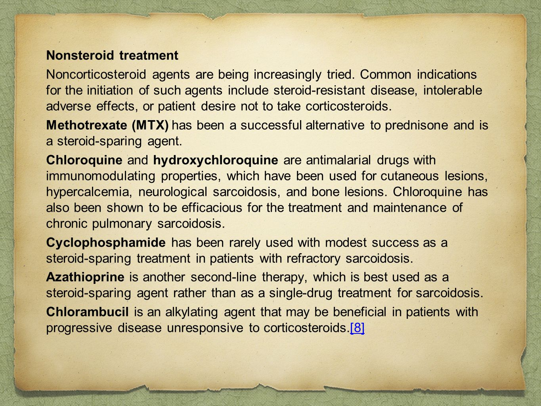 Nonsteroid treatment