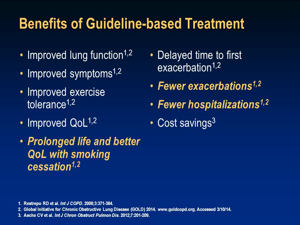 Benefits of Guideline-based Treatment