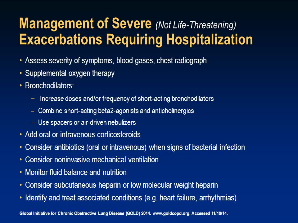 Management of Severe (Not Life-Threatening) Exacerbations Requiring Hospitalization