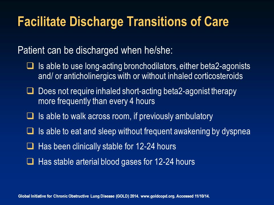 Facilitate Discharge Transitions of Care