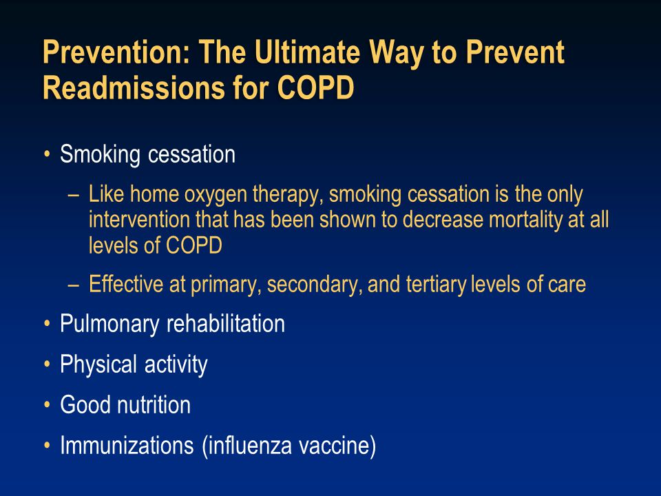Prevention: The Ultimate Way to Prevent Readmissions for COPD
