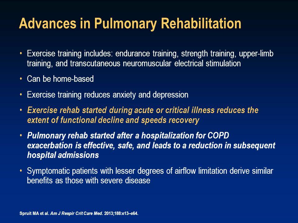 Advances in Pulmonary Rehabilitation