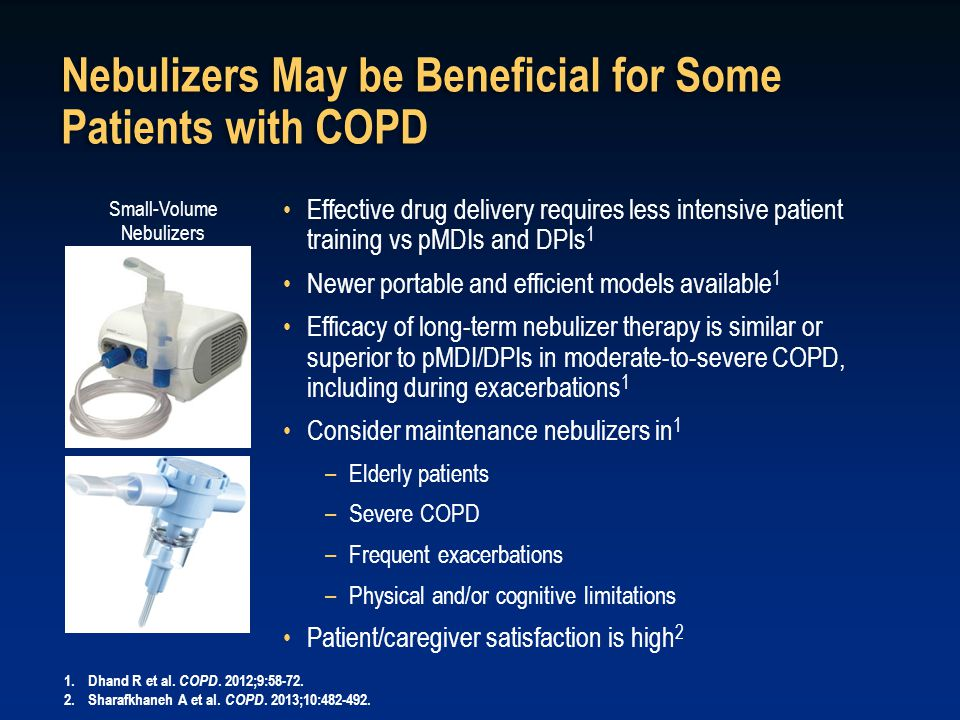 Nebulizers May be Beneficial for Some Patients with COPD