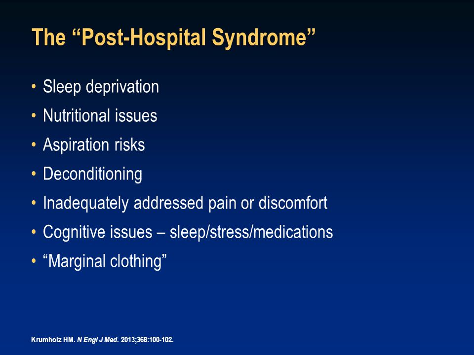 The Post-Hospital Syndrome