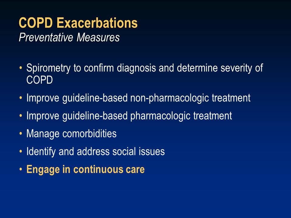 COPD Exacerbations Preventative Measures