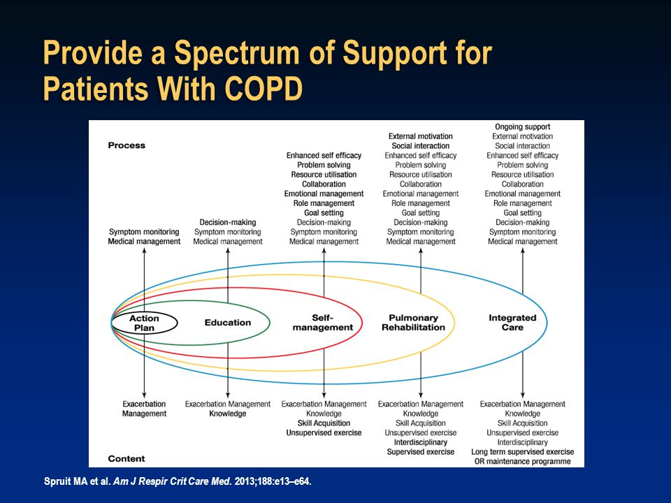 Provide a Spectrum of Support for Patients With COPD