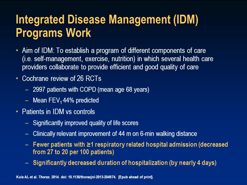 Integrated Disease Management (IDM) Programs Work
