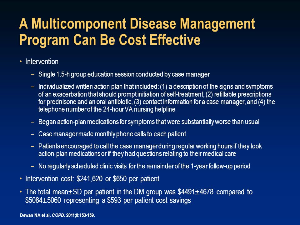 A Multicomponent Disease Management Program Can Be Cost Effective