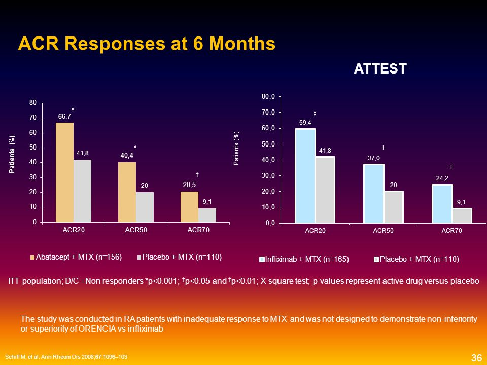 ACR Responses at 6 Months