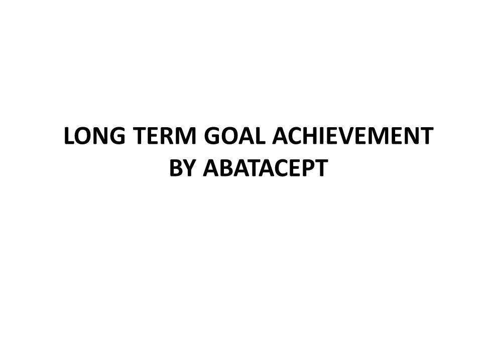 Long term goal achievement by abatacept