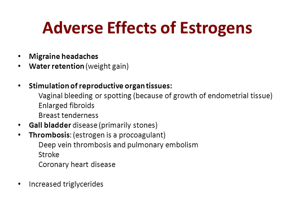 Adverse Effects of Estrogens