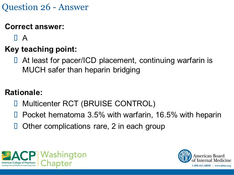 Question 26 - Answer Correct answer: A Key teaching point: