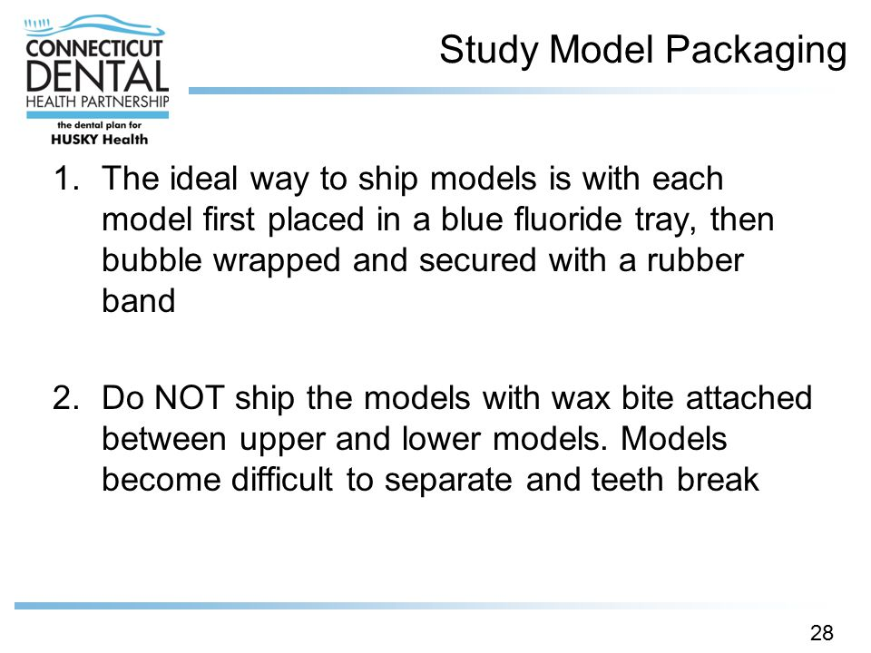 Study Model Packaging