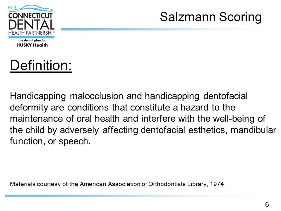 Salzmann Scoring