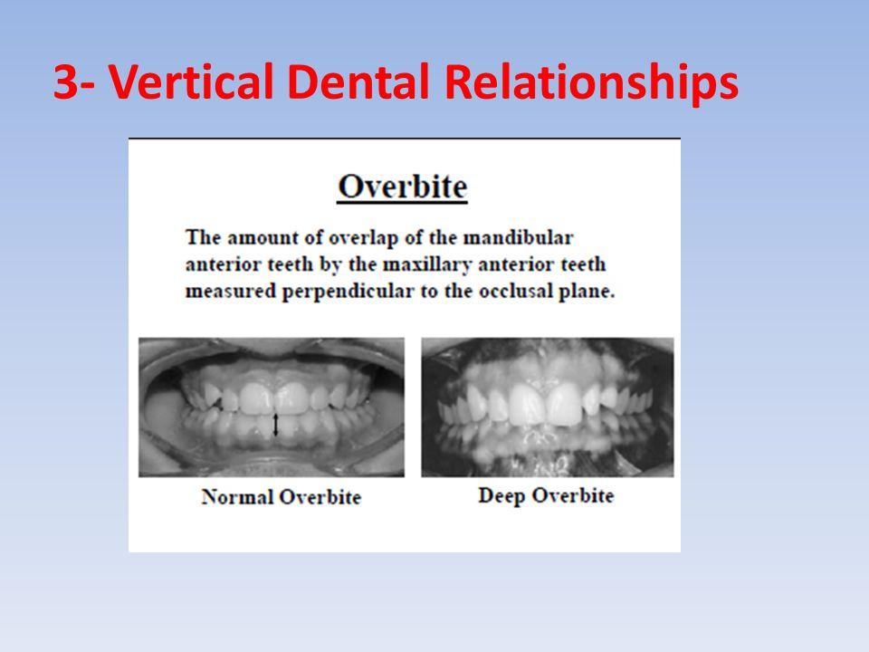 3- Vertical Dental Relationships