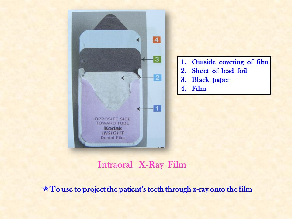 To use to project the patient's teeth through x-ray onto the film