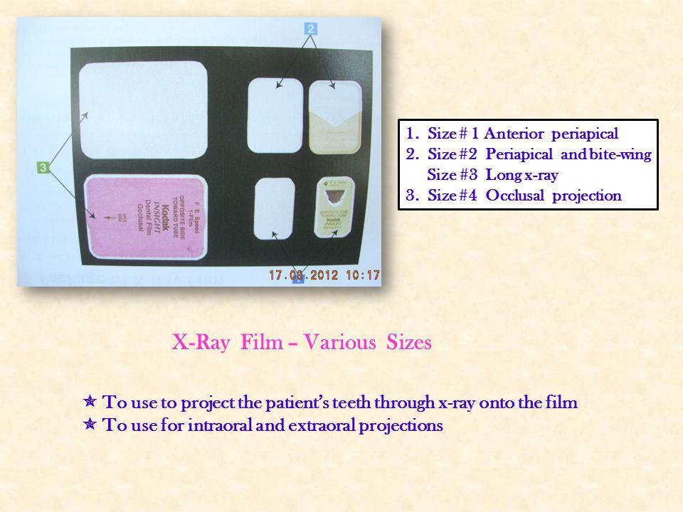 X-Ray Film – Various Sizes