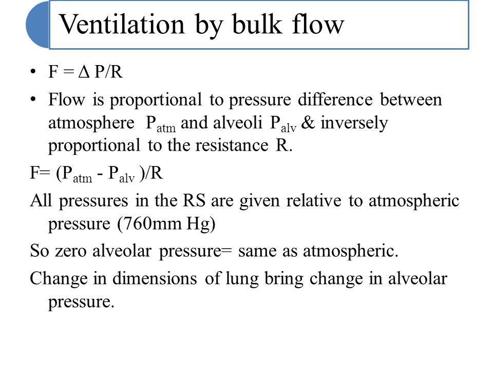 Ventilation by bulk flow