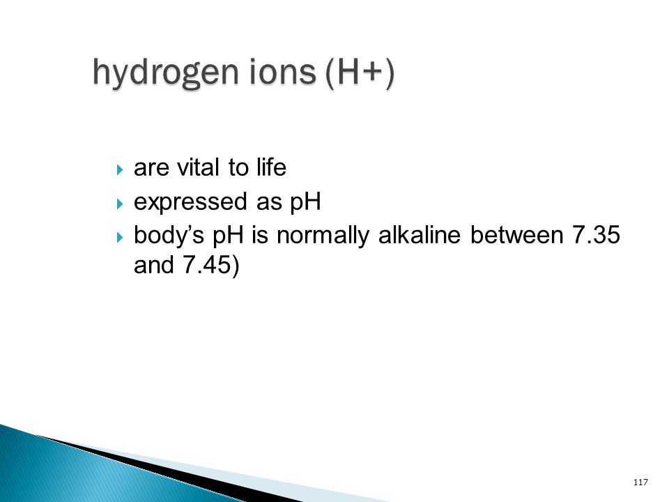 hydrogen ions (H+) are vital to life expressed as pH
