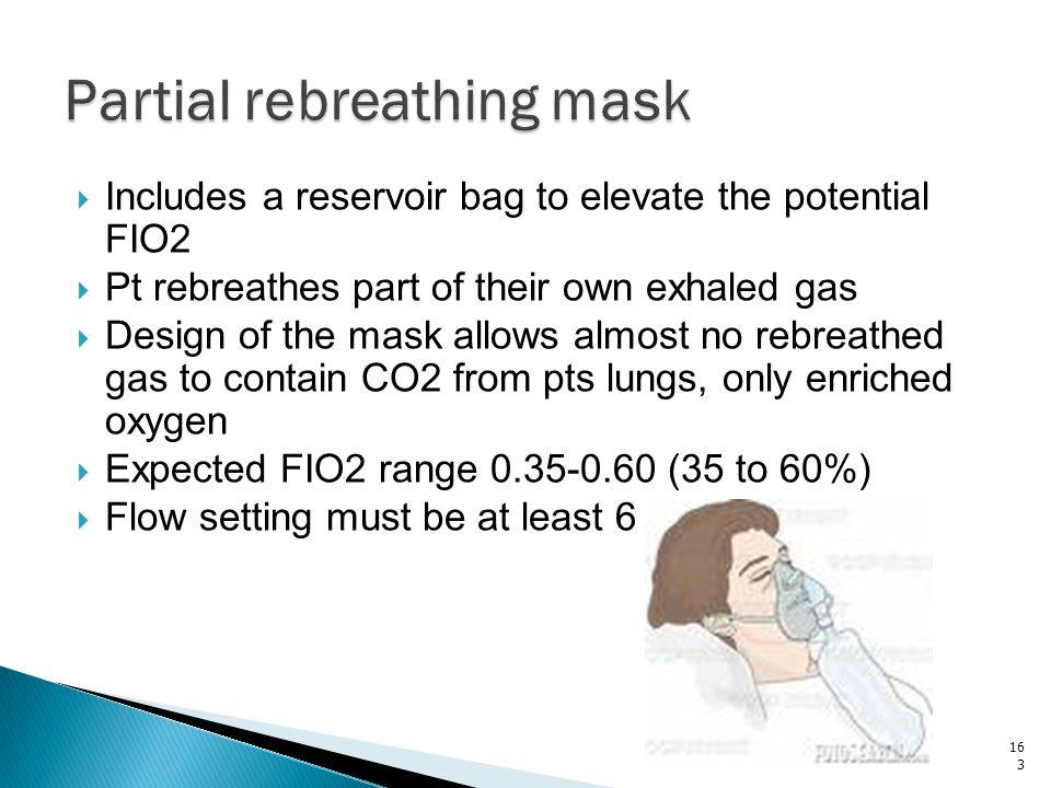 Partial rebreathing mask