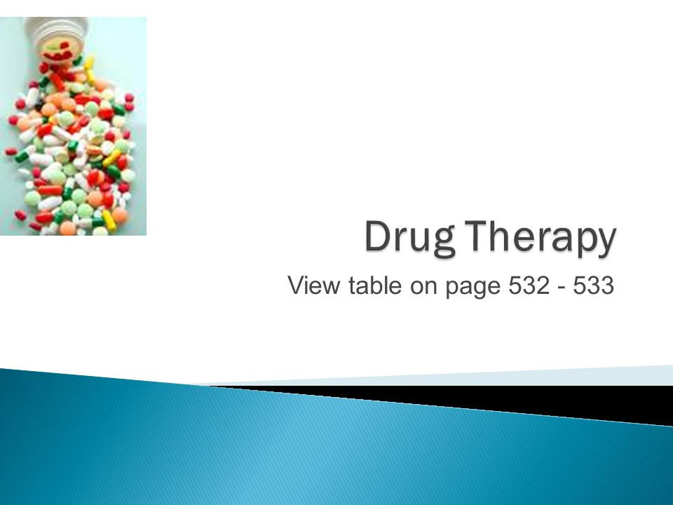 Drug Therapy View table on page 532 - 533