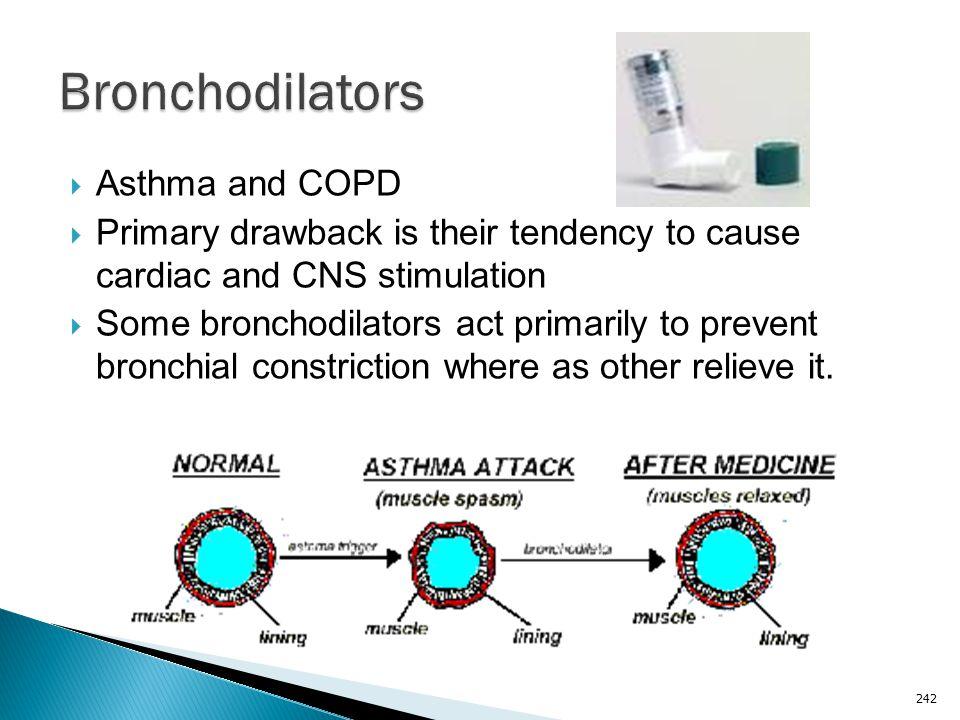 Bronchodilators Asthma and COPD