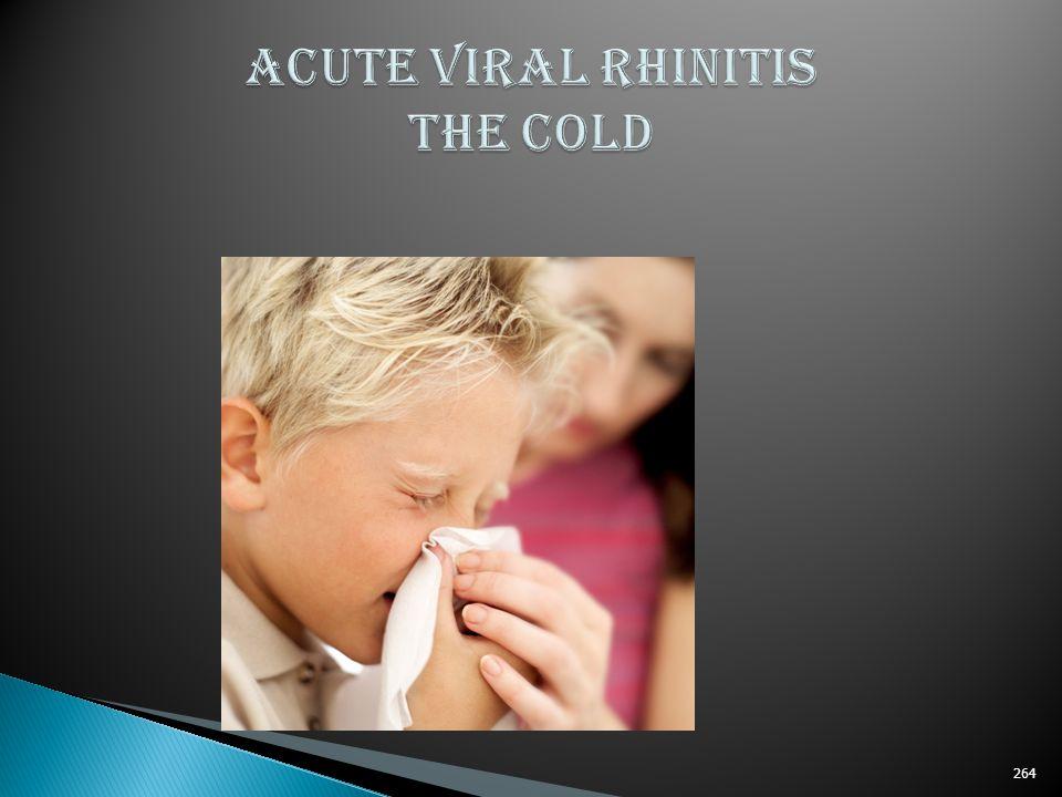 ACUTE VIRAL RHINITIS THE COLD
