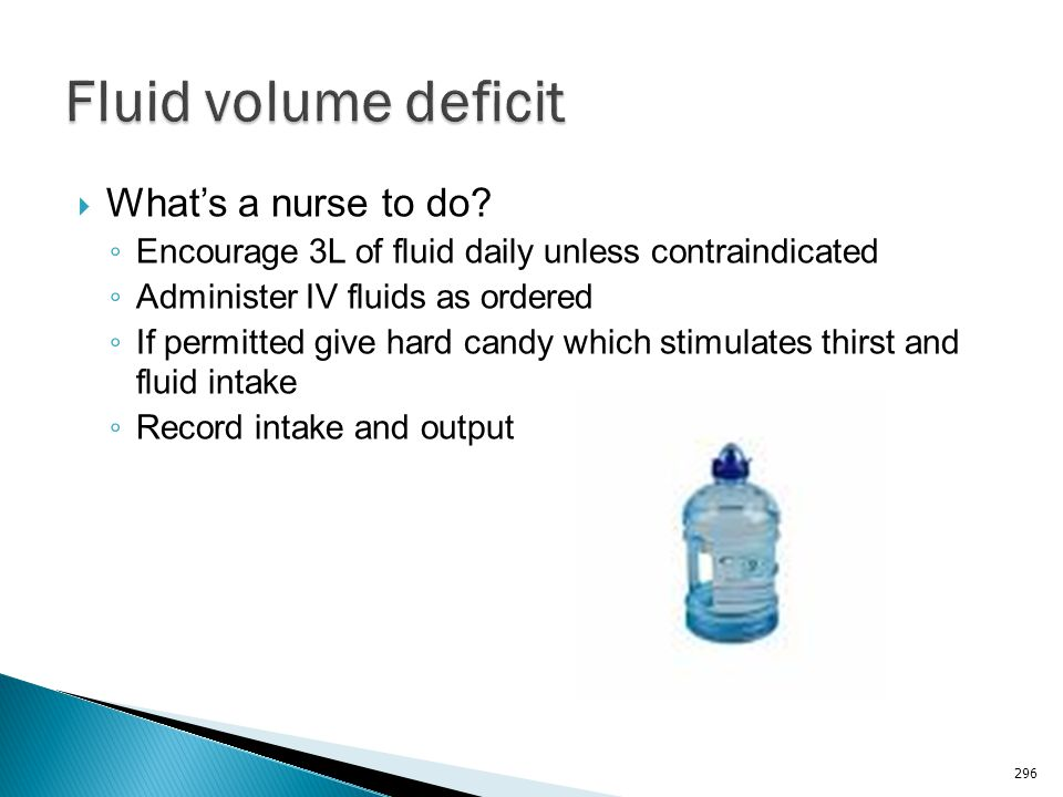 Fluid volume deficit What's a nurse to do