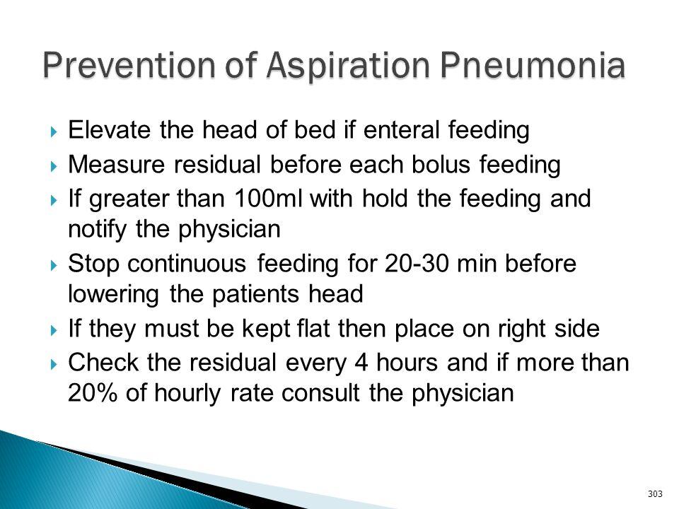 Prevention of Aspiration Pneumonia