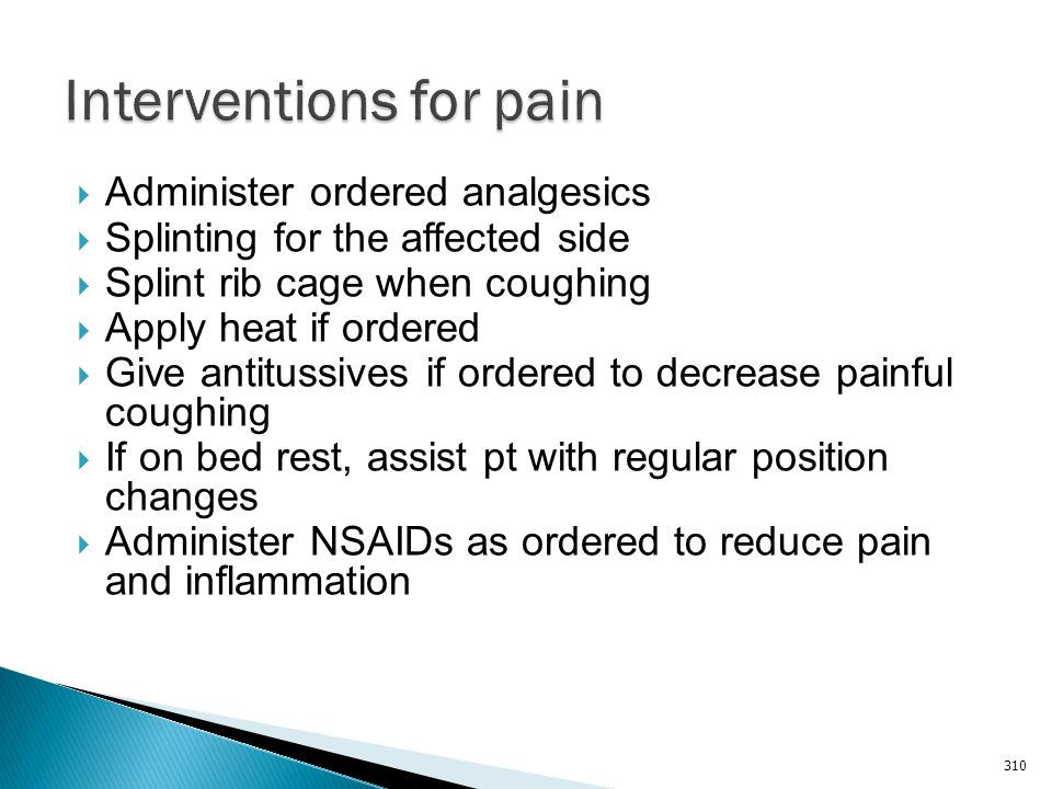 Interventions for pain