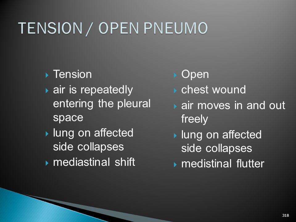 TENSION / OPEN PNEUMO Tension