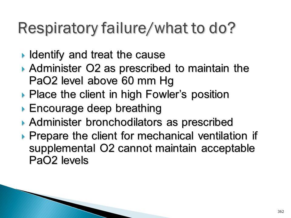 Respiratory failure/what to do