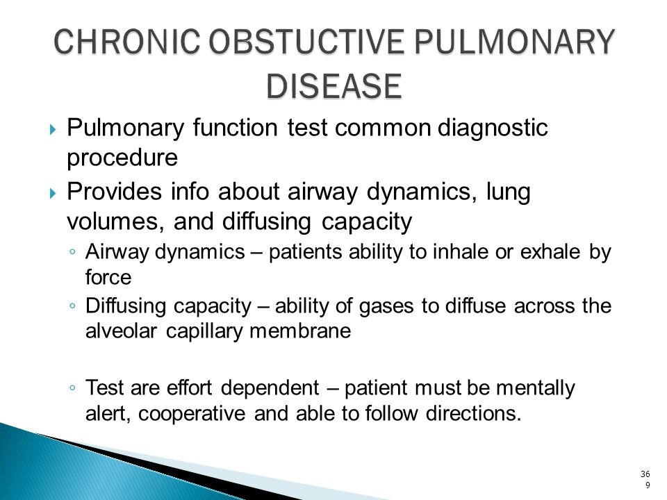 CHRONIC OBSTUCTIVE PULMONARY DISEASE
