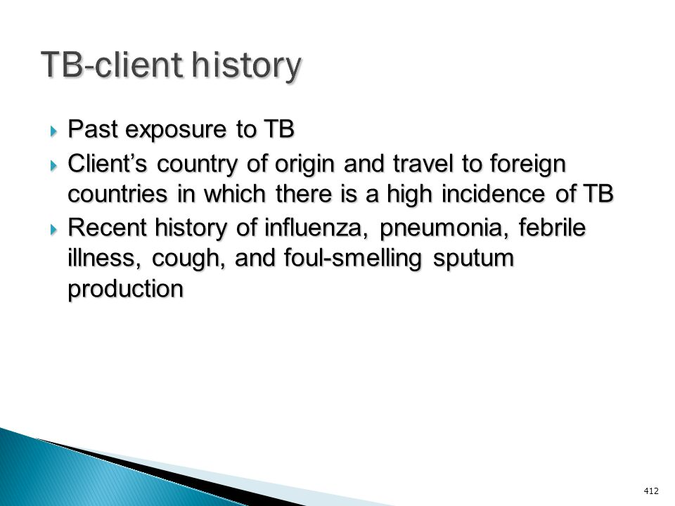 TB-client history Past exposure to TB