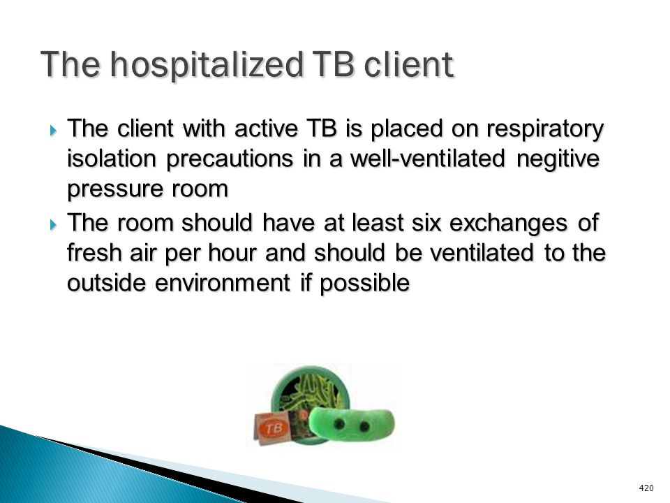 The hospitalized TB client