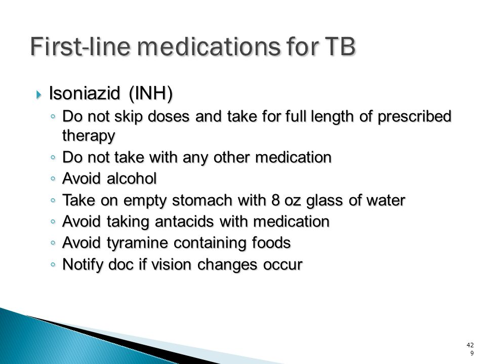First-line medications for TB