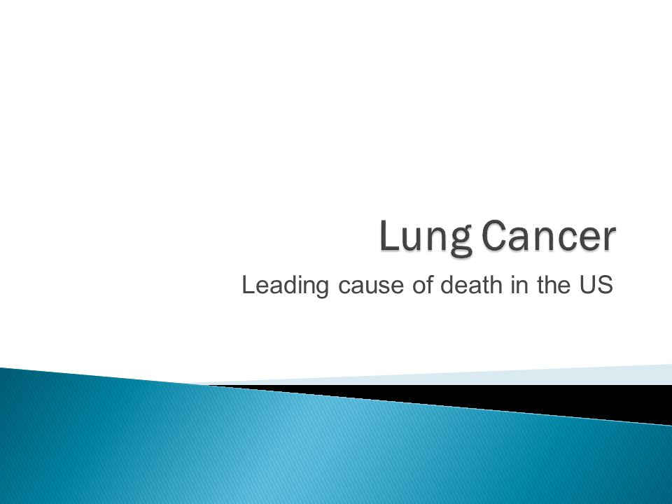 Leading cause of death in the US