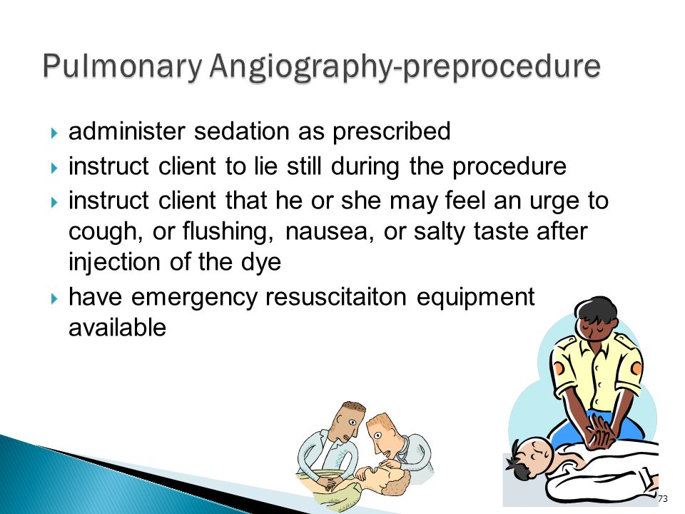 Pulmonary Angiography-preprocedure