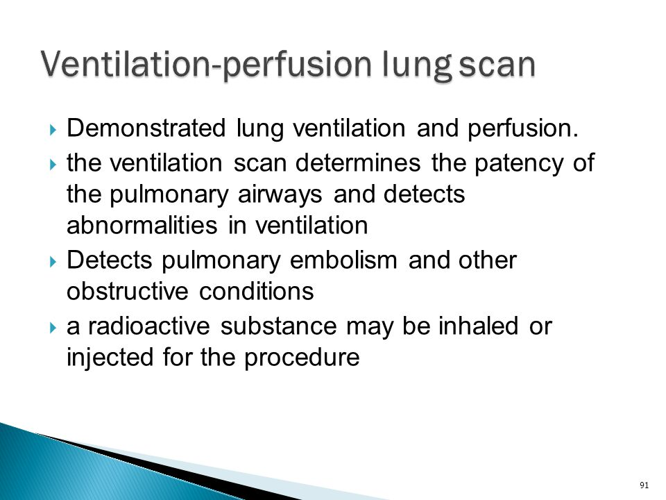 Ventilation-perfusion lung scan