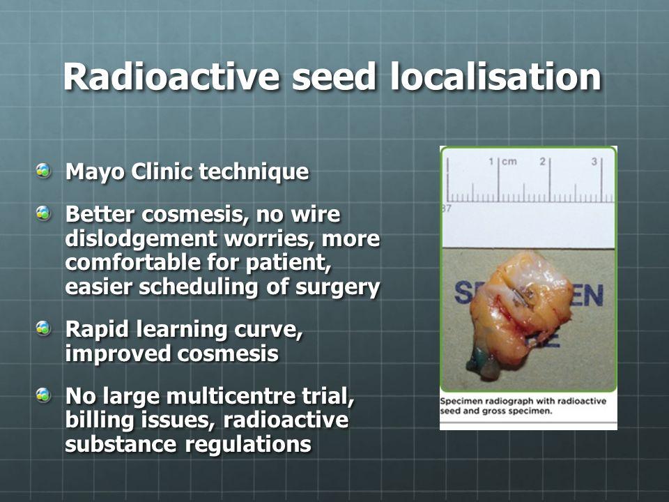 Radioactive seed localisation