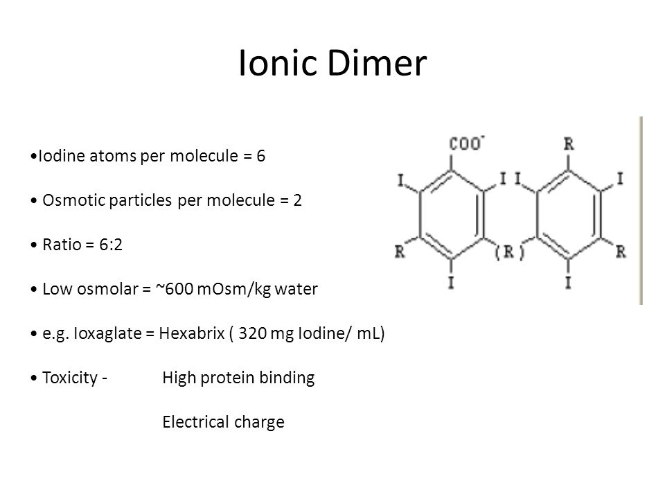 Ionic Dimer Iodine atoms per molecule = 6