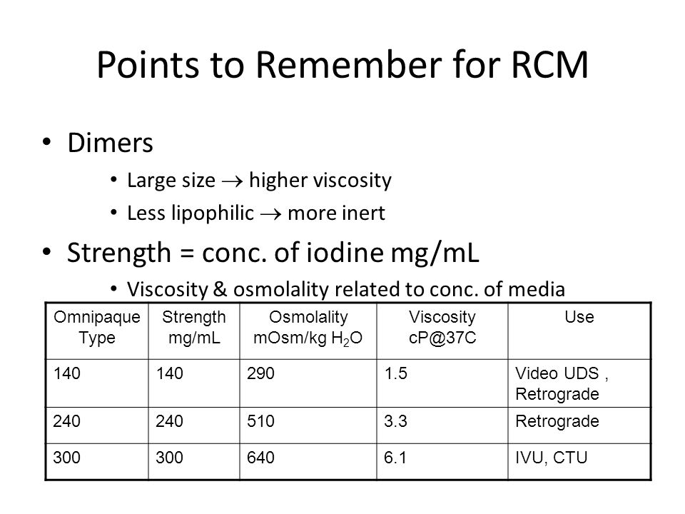 Points to Remember for RCM