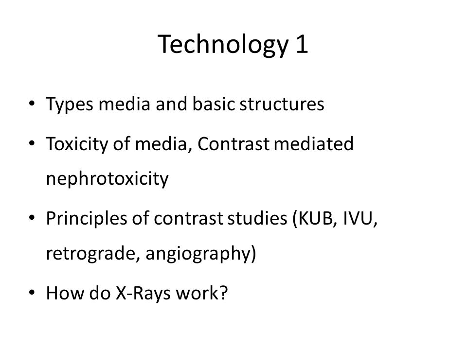 Technology 1 Types media and basic structures