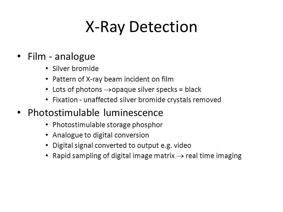 X-Ray Detection Film - analogue Photostimulable luminescence