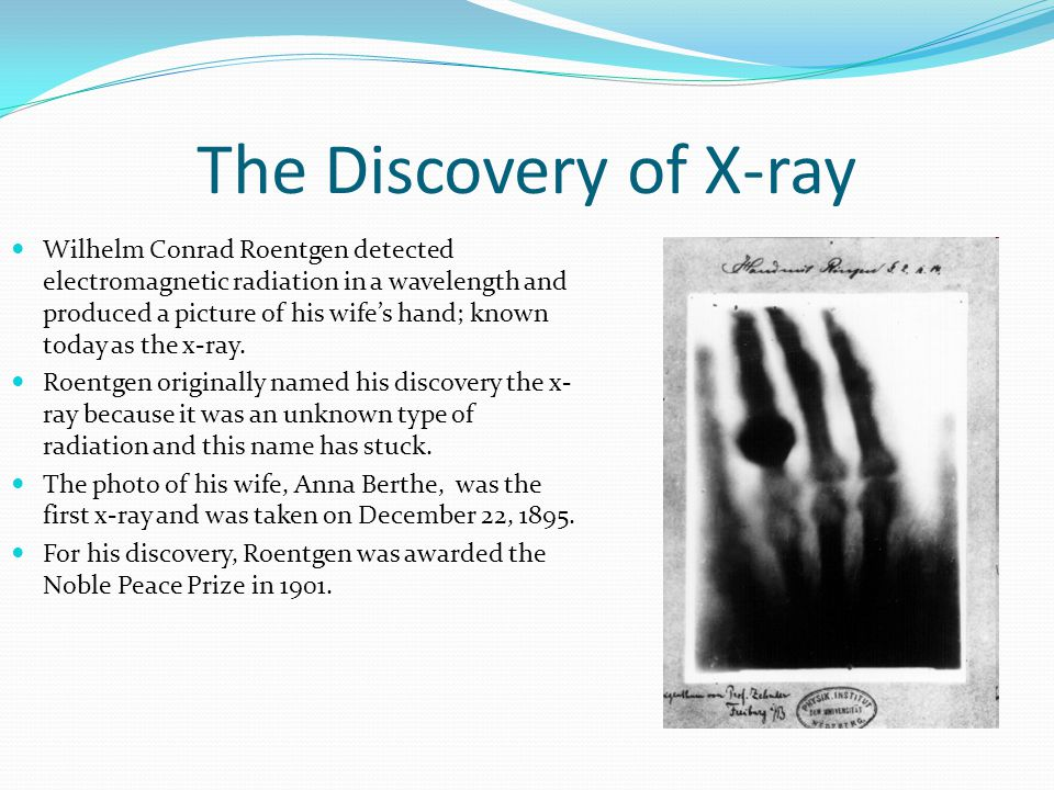 The Discovery of X-ray