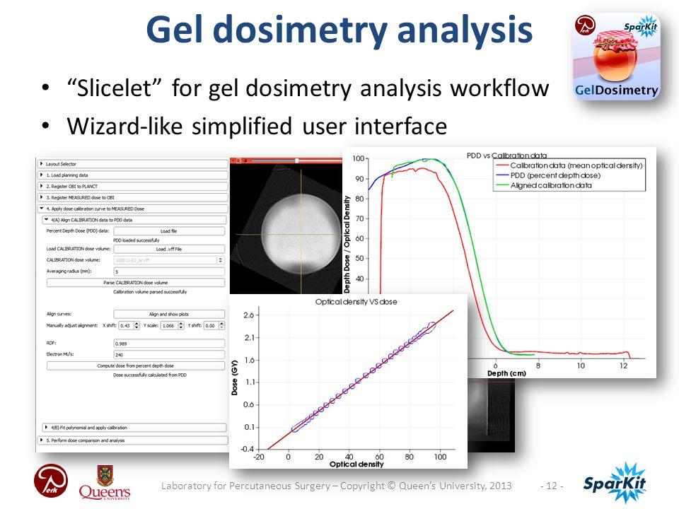 Gel dosimetry analysis